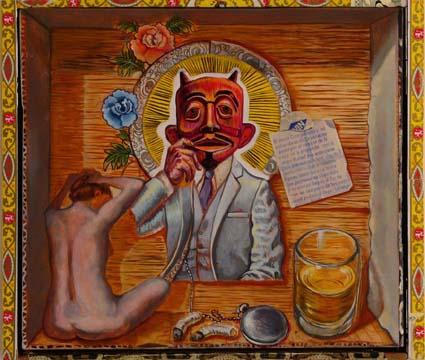 Sergio Teran - Artist Echo Park Los Angeles Masks in Paintings & Drawings (4/5)