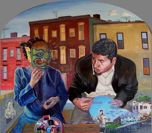 Sergio Teran - Artist Echo Park Los Angeles Masks in Paintings & Drawings (3/5)