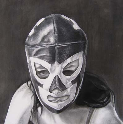 Lucha libre graphite on paper